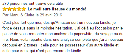 Kindle Oasis commentaires
