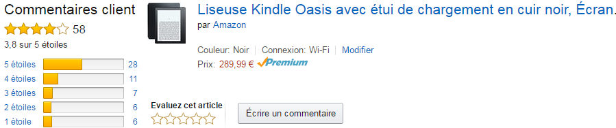 Kindle Oasis avis