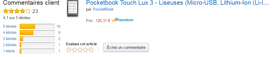 Pocketbook Touch Lux 3 avis